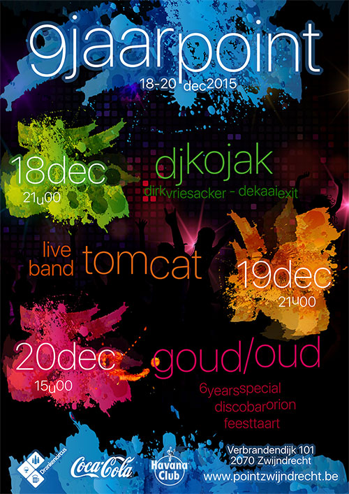 9 jaar Point - 19/12, 21u: live band TomCat